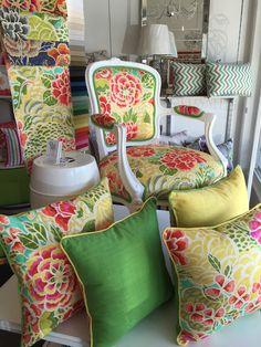 The Textile Company fabric  Oriental Garden colour Green Tea