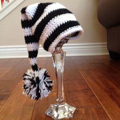 Pom Pom Crochet Hat for baby through toddler. mommyslovebugs.etsy.com
