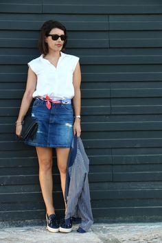 I love Fita Métrica: Mini Denim Skirt