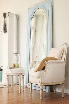 ♕♕wknd project~<~ (door mirror? Resto Hrdwr chair)