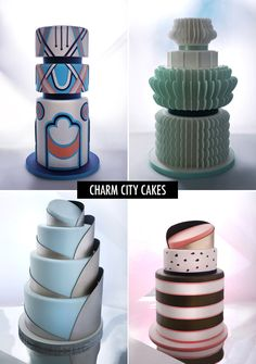 Charm City Cakes by Duff Goldman   Love the Avante garde style of these cakes. If you are a having a vintage style wedding then you simply must look at these cakes.