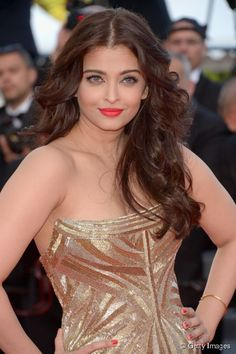 Her gorgeous hair makes her look stunning! #cannescraze #IndianBeauty
