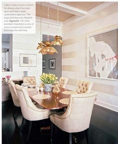 Elegant dining room walls