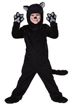 Toddler Little Black Cat Costume 4T | DiyHalloweenDepot.com  -- #HalloweenCostumesForBoys