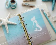 Planner DASHBOARD: Mermaid & Salt Water - Sweat, Tears, and the Sea - OCEAN-BOTTOM Abstract Geometric (A5, Personal, Half-Letter, Pocket)