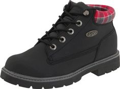 Lugz Women's Drifter Scuff Proof W Boot,Black/Charcoal/Red Scuff Proof Leather,9 B US Lugz. $76.00