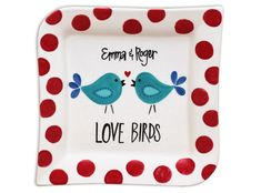 Wayfarer Salad Plate - See the project guide here: http://www.bisqueimports.com/Love-Birds?sc=7&category=841343