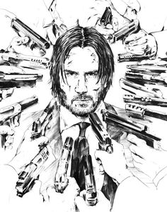Wallpapers for Apple - iPhone, iPad, iMac and Macbooks! Art And Illustration, Comic Kunst, Comic Art, John Wick Movie, Keanu Reeves John Wick, Shadow Photos, Sketch A Day, Arte Horror, Canvas Art Prints