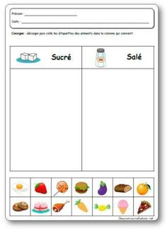 The 5 senses of taste in kindergarten, project, activities and games on taste French Teacher, Teaching French, Kindergarten Projects, Kindergarten Class, Autism Education, French Classroom, Free To Use Images, French Immersion, French Lessons
