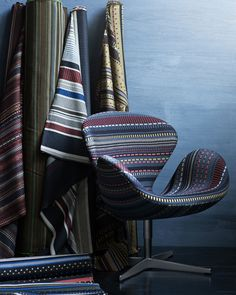 New Point fabric by Paul Smith in collaboration with Fritz Hansen.