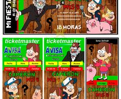 Kit Imprimible Gravity Falls Diseñá Tarjetas Cumples Y Mas#2 - $ 7.499 en Mercado Libre