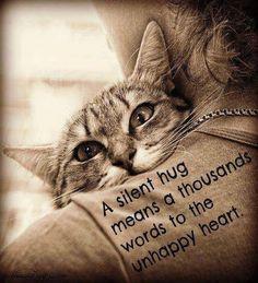 A silent hug ...