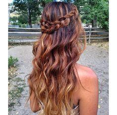Pancake braid with curls