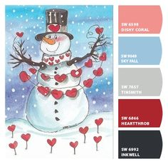 Paint colors from ColorSnap by Sherwin-Williams Homburg, Grey Clouds, Blue Plates, Corals, Vintage Holiday, Color Pallets, Winter Christmas, Color Combos, Color Inspiration