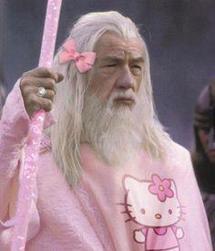 Happy Happy Hump Day!!!  I knew that Gandalf was a Hello Kitty fan...
