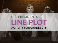 Holiday Math– Presidents' Day Activity for Grades 2–6 Plot Activities, Math Resources, Line Plot Worksheets, List Of Presidents, Upper Elementary, School, Holiday, Secondary School, Math