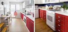 Cocinas rojas, un color intenso y divertido - http://www.decoora.com/cocinas-rojas-color-intenso-divertido/