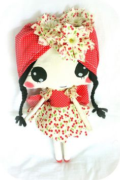 Cherry cute doll.....(my, what big eyes you have...but oh so cute!)