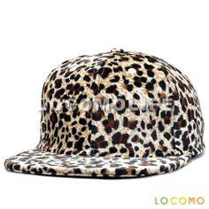 Men Women Leopard Dotted Pattern Print Cap