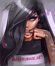 Digital Art Girl, Digital Portrait, Portrait Art, Sketch Pen Drawing, Creative Fashion Photography, Creation Art, Drawn Art, Dope Cartoon Art, Black Girl Art