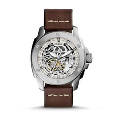 Fossil Modern Machine Skeleton Dial Automatic Men's Watch ME3083 - Machine - Fossil - Shop Watches by Brand - Jomashop