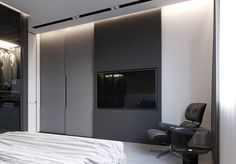 MINIMAL and visualization: Stephen Tsimbalyuk, Vadim KuchmanTotal area. MINIMAL and visualization: Stephen Tsimbalyuk, Vadim KuchmanTotal area: 144 sq. Boy Bedroom Design, Apartment Design, Modern Bedroom Design, Wardrobe Design Bedroom, Minimalism, Wardrobe Door Designs, Bedroom Bed Design, Home Interior Design, Closet Redesign