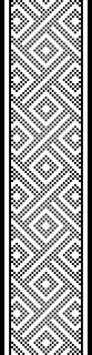 http://thewarpfactor.blogspot.dk/2010/06/brocaded-collar.html Warp: White silk Weft: Really thin white silk Brocade weft: #5 Kreinik jap Pattern: brocade Cards: 42 Width: 2.3cm Length: 44cm Lavet ud fra et billede