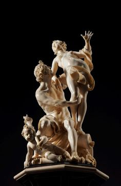 Pluto y Proserpina,carved ivory  Collection of Alphonse Maier de Rothshield