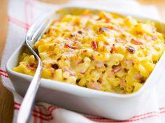 Découvrez la recette Gratin de pâtes au jambon façon Cyril Lignac sur cuisineactuelle.fr.