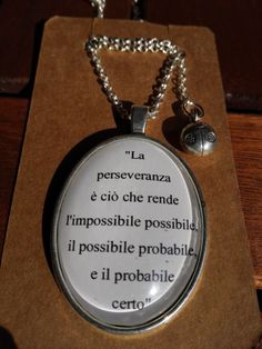 Collana con cabochon frase di NeverEndBijoux su Etsy Words Quotes, Qoutes, Jim Morrison, Quotes About Moving On, Albert Einstein, Beautiful Words, Food For Thought, Funny Texts, Cool Words