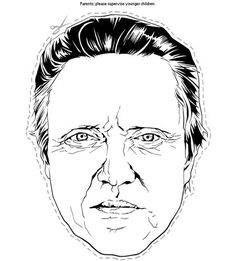A Halloween Treat from Brandon Bird, a Christopher Walken mask! Just print and use! Last Minute Halloween Costumes, Halloween Masks, Halloween Treats, Cultura Pop, Mascaras Halloween, Printable Masks, Free Printables, Paper Mask, Art World