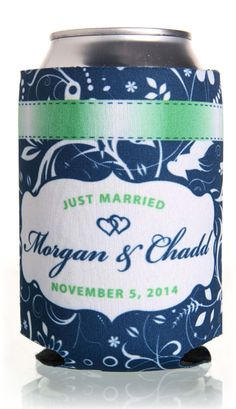 Full Color Designs Wedding Can Coolers #fullcolor #koozies #wedding