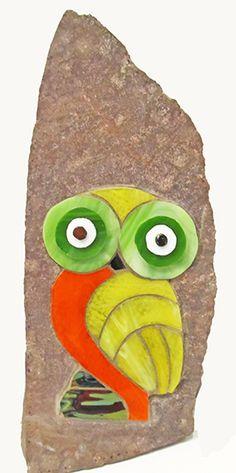 Vitromosaico sobre piedra de la alumna Carolina Rubio