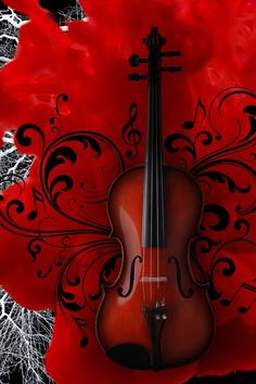 The black/white in the far left is the only thing I would omit. The red background could also be eliminated and still look stunning. Works equally well with a violin/viola or a cello/double bass. Musica Celestial, I See Red, Bild Tattoos, Simply Red, Shades Of Red, Ruby Red, My Favorite Color, Red Color, Lady In Red