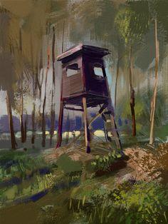 Forest, Tymoteusz Chliszcz on ArtStation at https://www.artstation.com/artwork/ewz0b