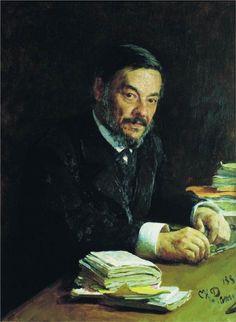 Portrait of Ivan Mikhaylovich Sechenov, Russian physiologist, 1889 - Ilya Repin - WikiArt.org