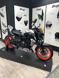 Aluminium sport screen and 3 colors parts Yamaha Mt07, Milano, Motorcycles, Bike, Sport, Cards, Design, Motorbikes, Custom Motorcycles