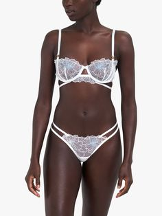 Lingerie Outfits, Best Lingerie, White Lingerie, Beautiful Lingerie, Lingerie Set, Women Lingerie, Thongs, Bra Styles, Floral Embroidery