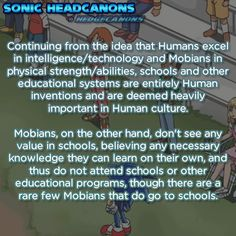 Finally! A legitimate reason why Sonic and Co. don't have to do homework!