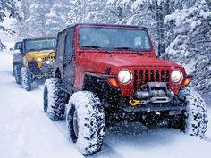 Wheeling in the snow = heaven!