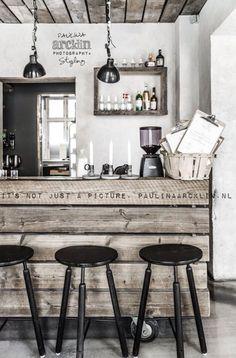 Deco palette en bois pour une cuisine retro