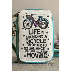 Life+Is+Like+Riding+a+Bicycle+Art+&+Soul+Wristlet