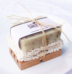 This Soap Gift Set is simply the perfect gift. It comes with any bar out of my shop that you'd like, and a handmade wooden soap. It also comes with a hand crocheted cotton fiber Handmade Soap Packaging, Handmade Soaps, Handmade Wooden, Packaging Ideas, Soap Packing, Soap Display, Soap Shop, Homemade Soap Recipes, Simple Gifts