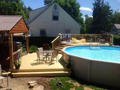This is the Best Above Ground Pool Ideas On a Budget we ever seen. Such a pool is, though, a small pricey to install. Naturally, you may also opt to have a pool having a more unusual form .Read More. Swimming Pool Decks, Above Ground Swimming Pools, Swimming Pool Designs, In Ground Pools, Above Ground Pool Landscaping, Backyard Pool Landscaping, Deck Patio, Landscaping Ideas, Patio Ideas