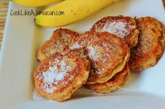 Jamaican Banana Fritters Recipe (Try substituting spelt flour and coconut sugar) My Recipes, Gourmet Recipes, Cooking Recipes, Healthy Recipes, Recipies, Bakery Recipes, Fruit Recipes, Healthy Cooking, Asian Recipes