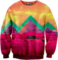 neon mountain sweatshirt