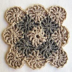How to crochet a Wheel Stitch Block - step by step tutorial