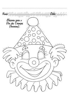 View album on Yandex. Printable Coloring Pages, Colouring Pages, Circus Crafts, Clown Party, Circus Clown, Altered Books, Baby Quilts, Art Sketches, Embroidery Patterns