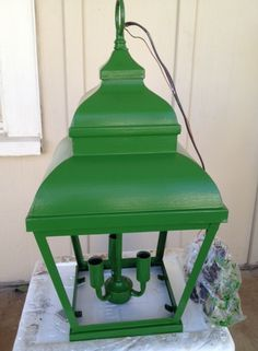 "If you have one of the ""pretty brass"" lights, you could do it a favour and give it a coat of your best paint.......D."