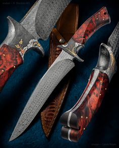 Likes, 8 Comments - Knife Damascus Blade, Damascus Knife, Damascus Steel, Cool Knives, Knives And Tools, Knives And Swords, Beil, Forged Knife, Knife Handles
